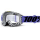 100% Accuri - Gafas enduro - Anti Fog Clear Lens / blanco/negro